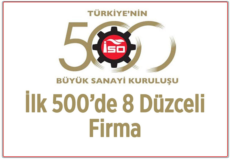İlk 500'de 8 Düzceli Firma