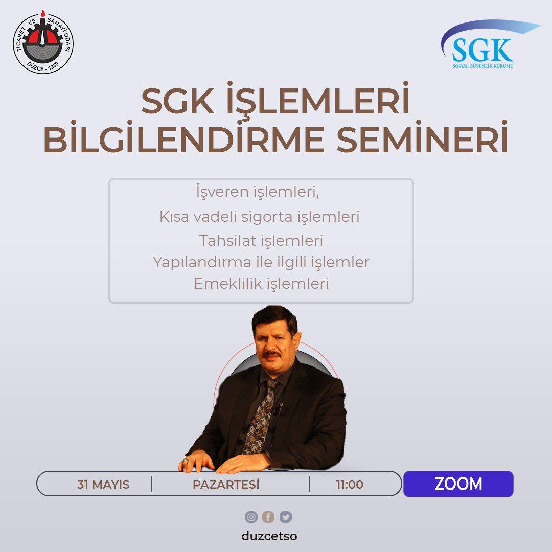 SGK İŞLEMLERİ BİLGİLENDİRME WEBİNARI
