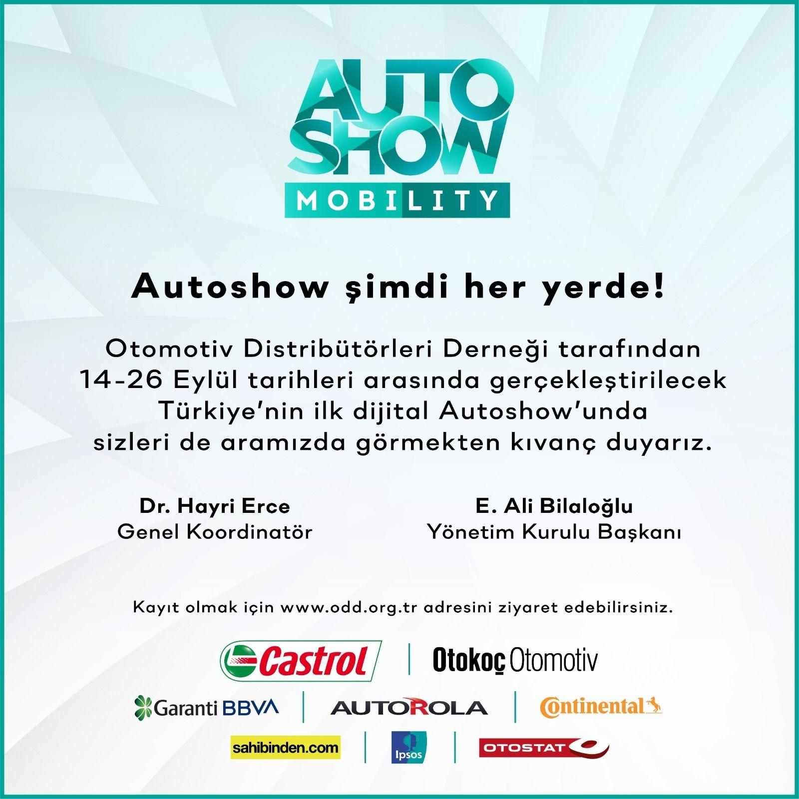 Autoshow 2021 Mobility 14 - 26 Eylül 2021