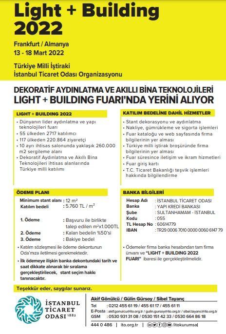 LIGHT+BUILDING 2022 13 - 18 Mart 2022